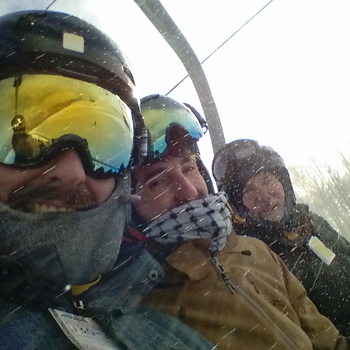 Black Touques On The Lift